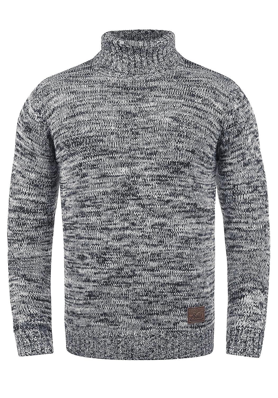 !Solid Philaremo Herren Rollkragenpullover Grobstrick Pullover Aus 100% Baumwolle