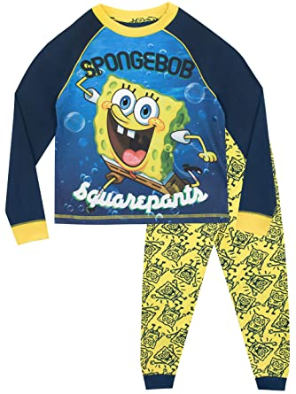 4f2c9d9d93 Spongebob Boys Sponge Bob Squarepants Pyjamas  Amazon.co.uk  Clothing