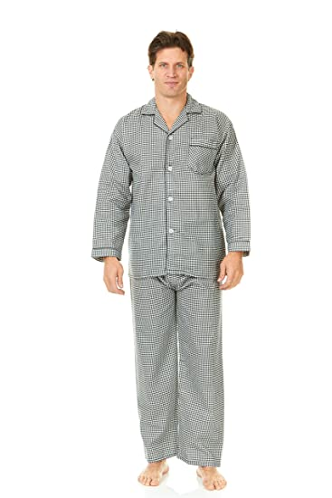 Image Unavailable. Image not available for. Color  Sutton Place Men s  Flannel Pajama Sleepwear Set 100% Cotton Extra ... 05041eaa3