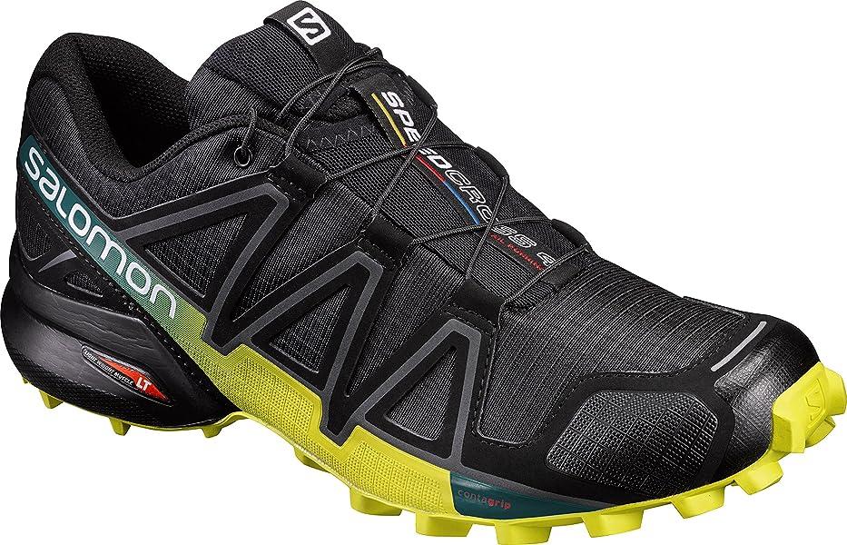 Salomon Speedcross 4, Herren Traillaufschuhe, SchwarzGelb