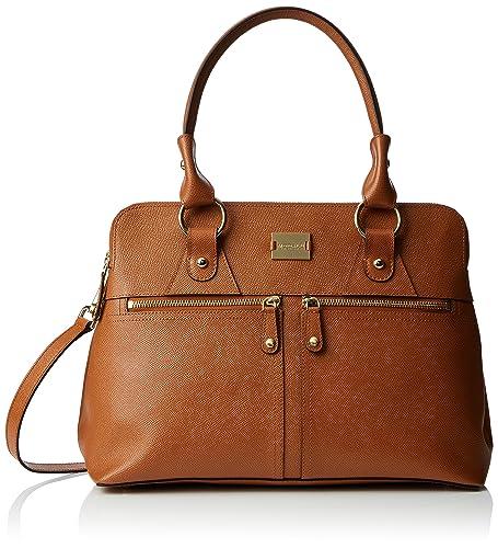 71ea649c48 Modalu Womens Pippa Classic Grab Top-Handle Bag Dark Tan  Amazon.co ...
