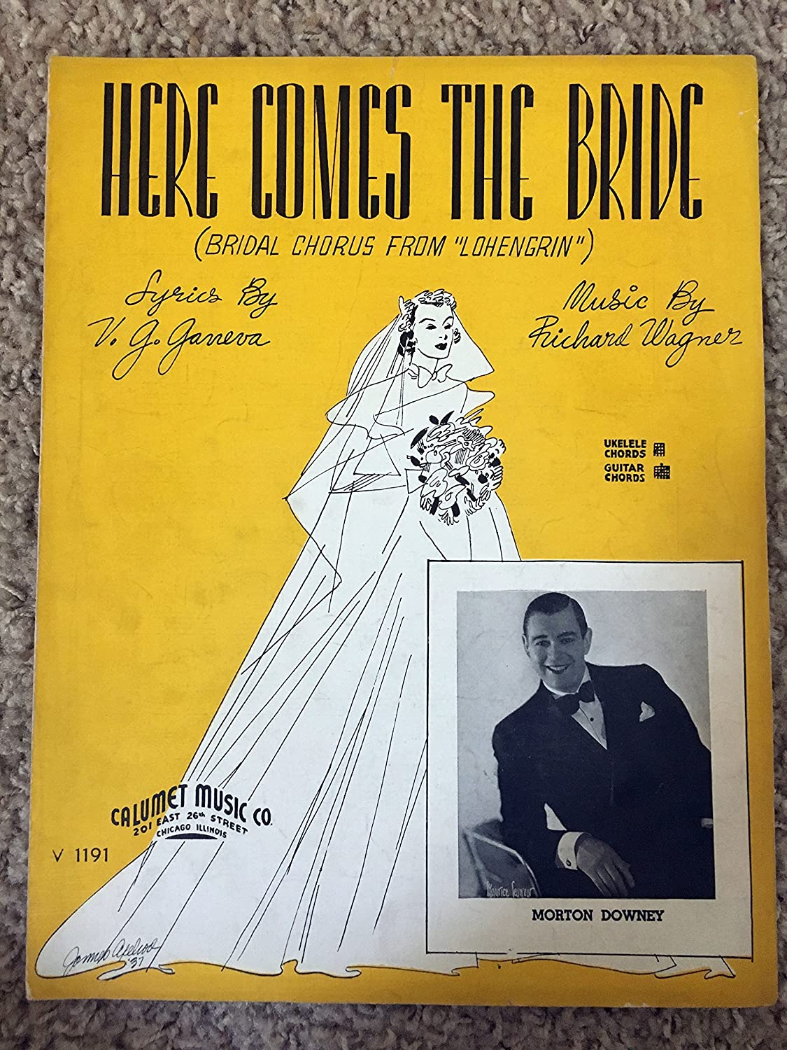 Here Comes The Bride Richard Wagner Sheet Music Briodal Chorus