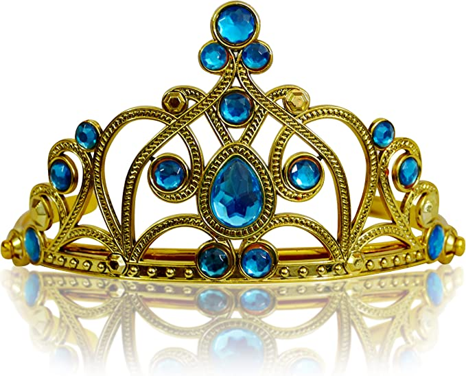 Rosa Claro Katara 1682 Diadema de Princesa Accesorio de Disfraz Corona de Cuentos de Hadas Plateada con Cristales