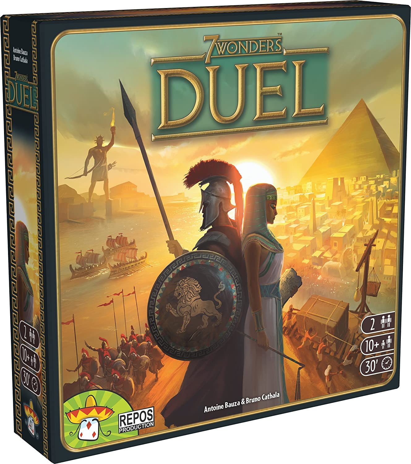 Asterion 8035 – 7 Wonders Duel, édition Italienne, Multicolore