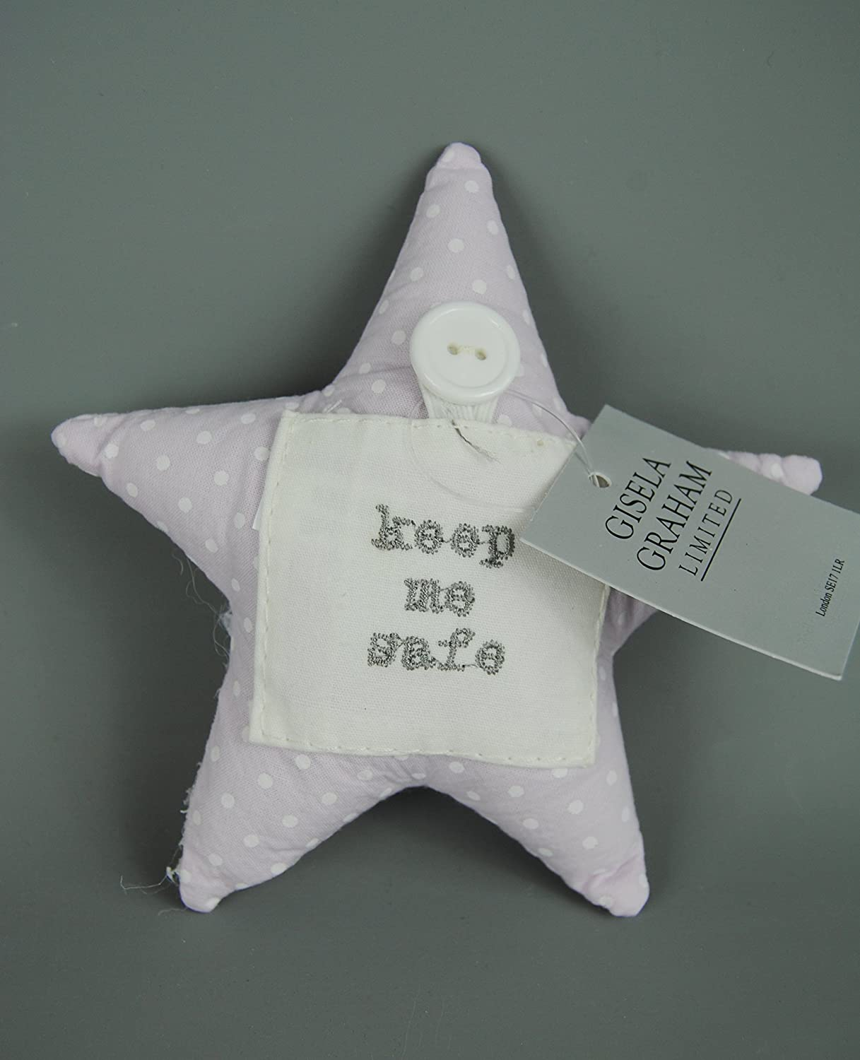 Lilac Baby First Tooth filled Star cushion a lovely Christening Gift