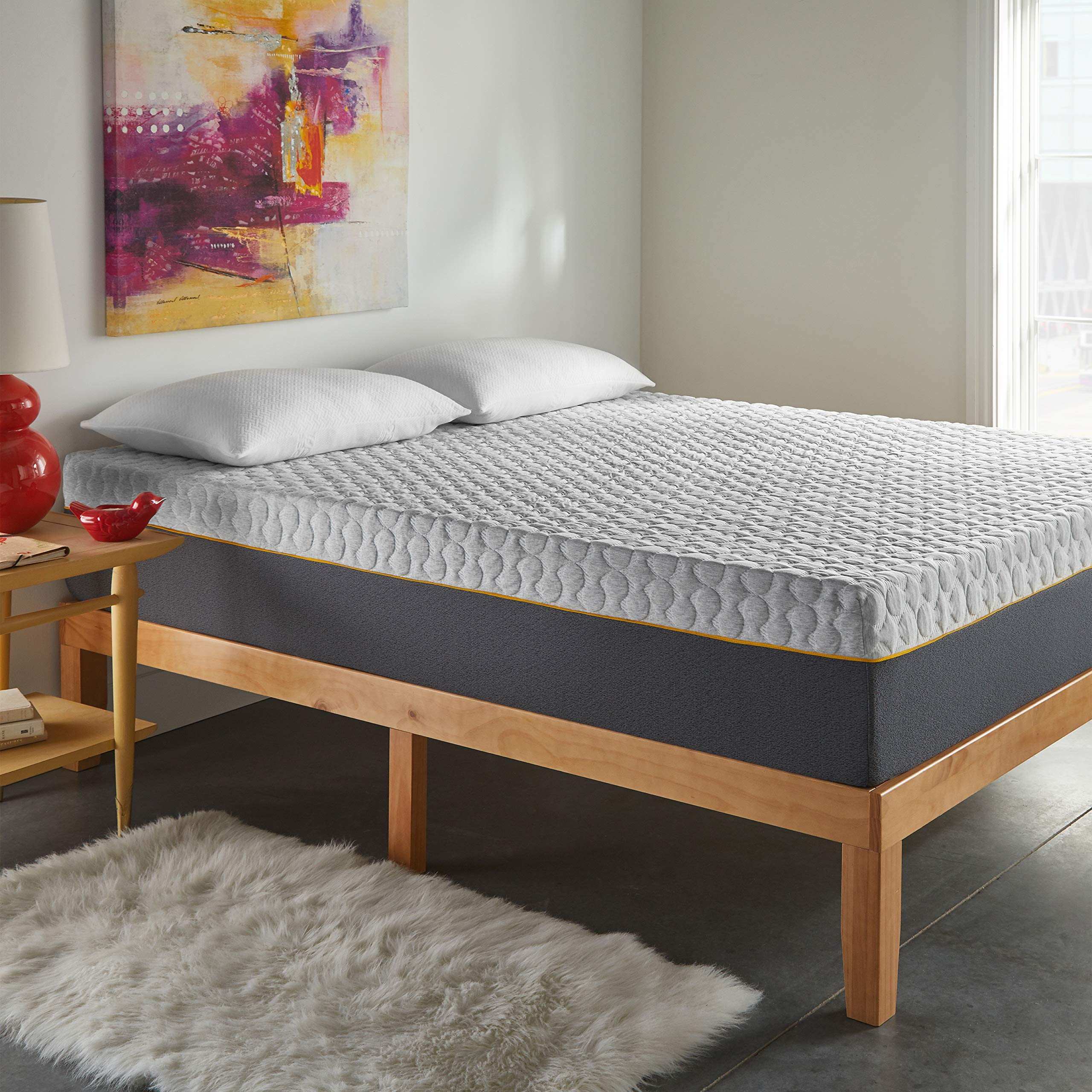 Early Bird 12-inch Hybrid Memory Foam and Spring Mattress, Medium Comfort, Bed in Box, CertiPUR-US Certified Foam, No Harmful Chemicals, Handcrafted in The USA, 10 Year Warranty, Queen by EARLY BIRD