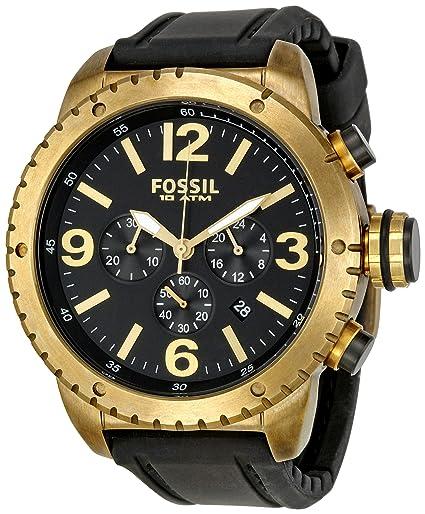 Fósil de hombre bronce vintaged DE5007 - Reloj cronógrafo con correa de silicona negro: Fossil: Amazon.es: Relojes