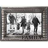 2ee0201684c Malden International Designs Modern Pewter Metal Diecast Family Expressions  Picture Frame