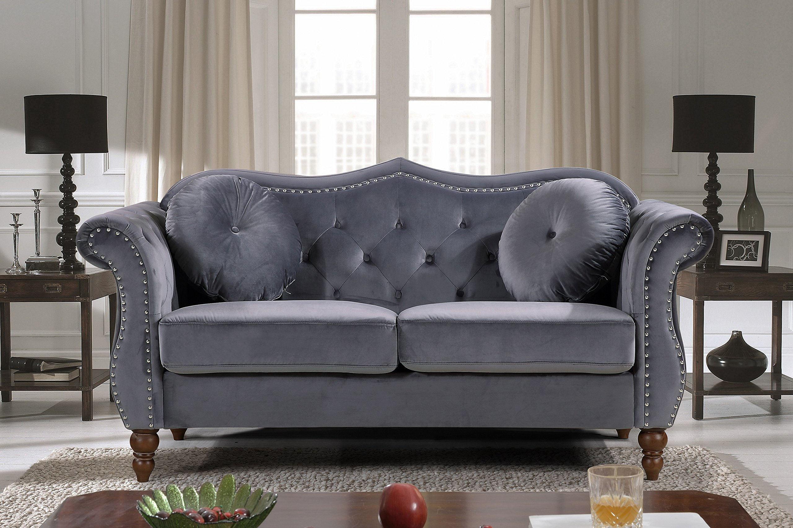 US Pride Furniture , Loveseat, Grey by US Pride Furniture