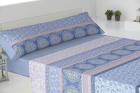 El Barco Windsor Juego de sábanas Algodón 50% Poliéster, 1, Azul, 135, 8: Amazon.es: Hogar