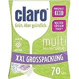 claro Öko Multi Tabs – phosphatfreie Alles in 1 Öko Spülmaschinentabs im Sparpaket 70 Stück Packung