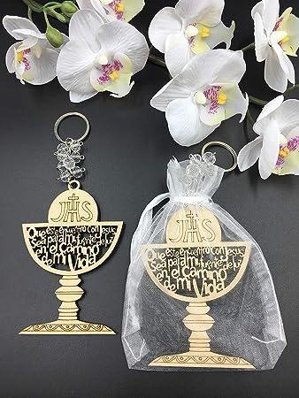 Amazon.com: 12 piezas de llavero de primera comunión con ...