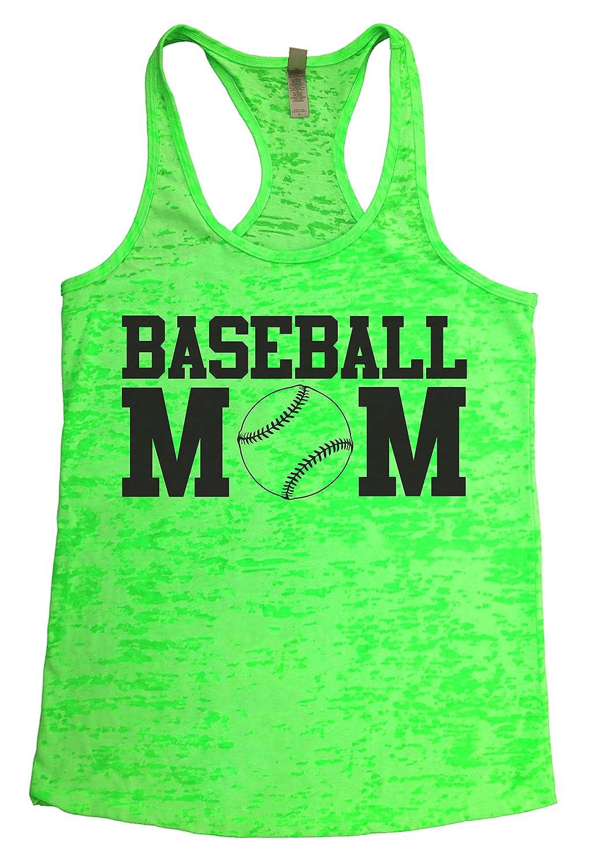 "Baffle ""Baseball Mom"" Women's Burnout Racerback Tank - Black Text"