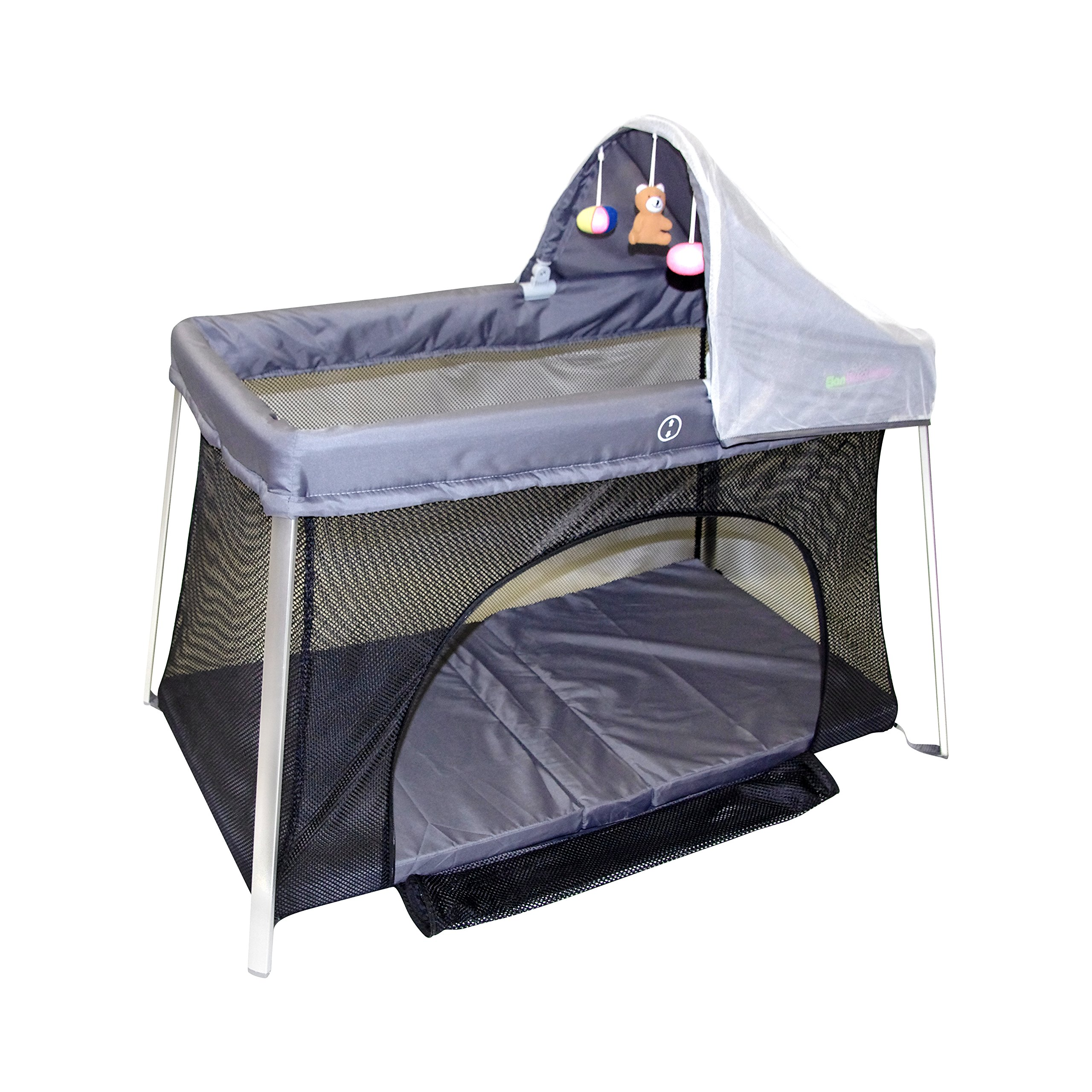 Portable Crib - Front And Top Baby Access With Sun Shade And Bug Canopy. Your Home And Travel Crib. Easy Set Up And Take Down. Useful Cribs For All New Mothers And Mothers To Be. by ElanBambino