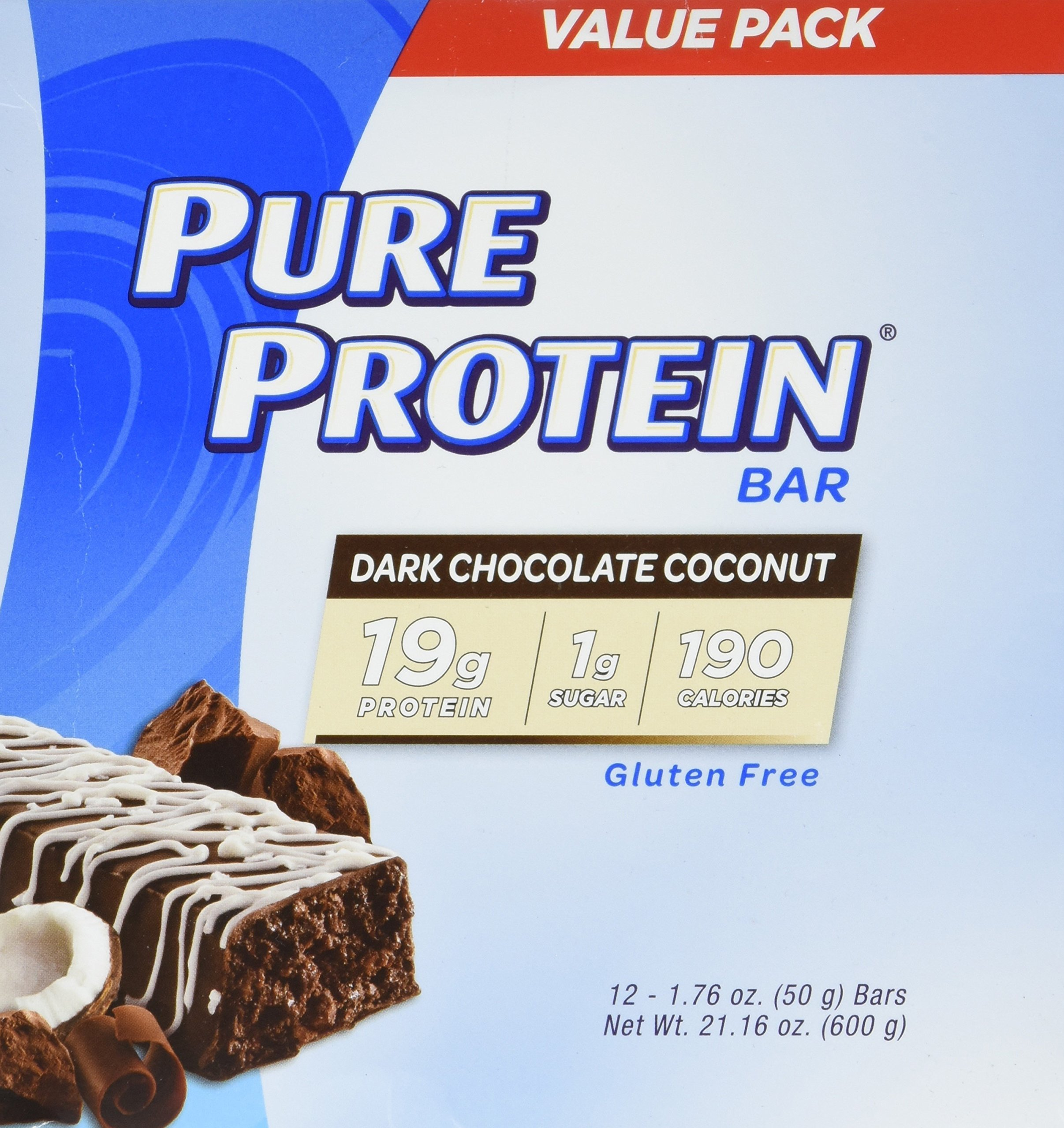Pure Protein Dark Chocolate Coconut, 1.76oz, 2 Pack (12 Count) by Pure Protein (Image #2)