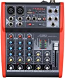 Audio 2000S AMX7311 Audio2000'S Professional Four-Channel Audio Mixer with USB and DSP Processor