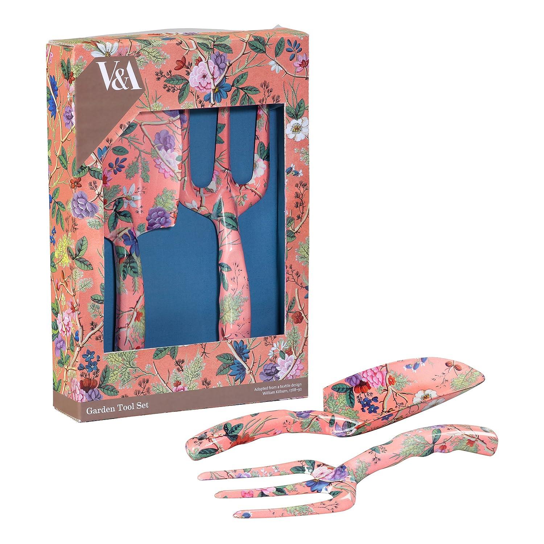 /Rose V /& A Va021/Fourche et Truelle de Kilburn Corail avec motif floral/