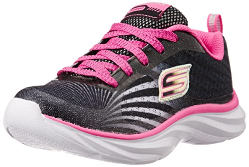Skechers Kids Pepsters Bright Time Sneaker (Little Kid/Big Kid),Black/