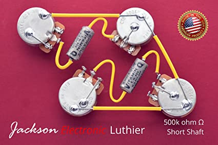 Amazon.com: Les Paul Wiring Harness Kit CTS 500k Left Handed ... on