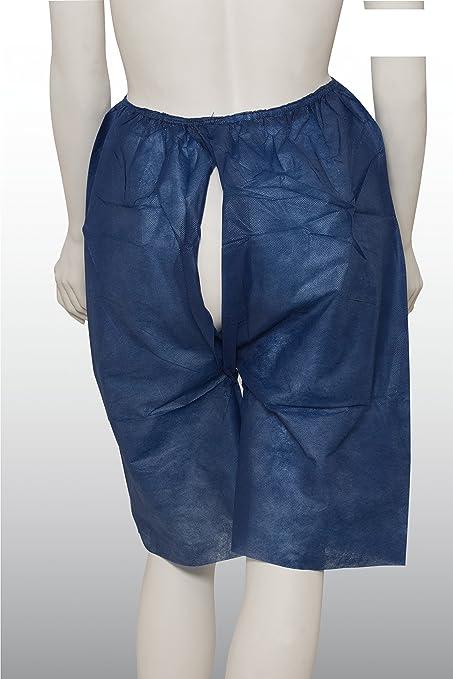 100 pieza desechables – Pantalón corto – colonoscopia de pantalón – Azul Oscuro – Tamaño XL