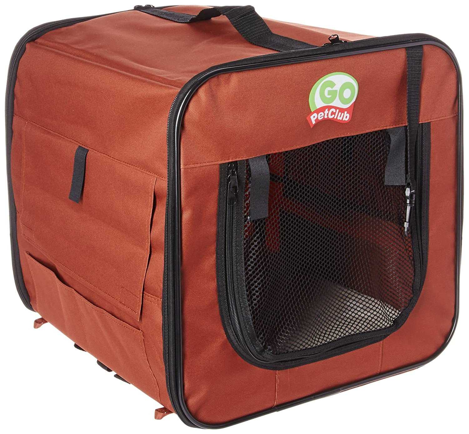 Brown 18 in. Brown 18 in. Go Pet Club Soft Dog Crate, 18-Inch, Brown