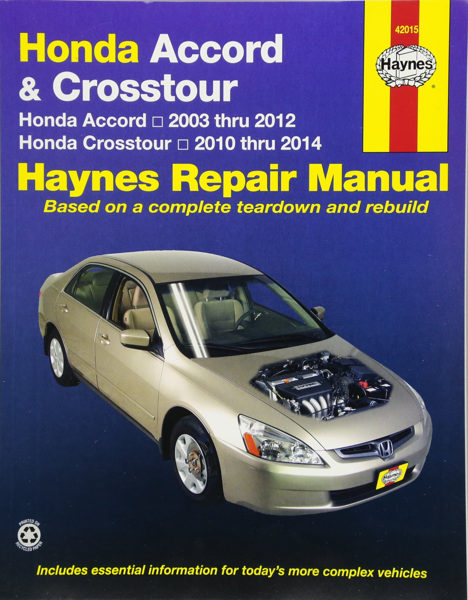 Honda Accord 2003 2007 Repair Manual Haynes Fuel Filter 9781563927409 Books