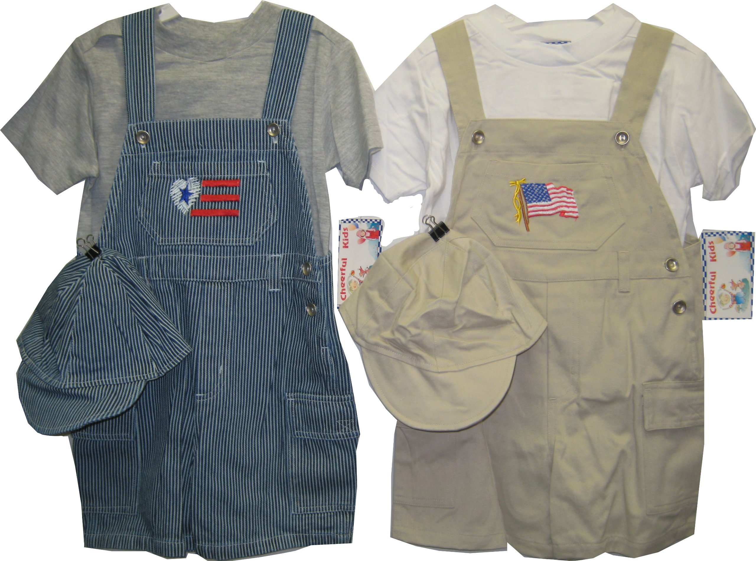 Toddler Size 2T Shortall 2-PC Sets2 PACKS