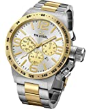 Men's TW Steel Canteen Bracelet Two-Tone Chronograph Watch