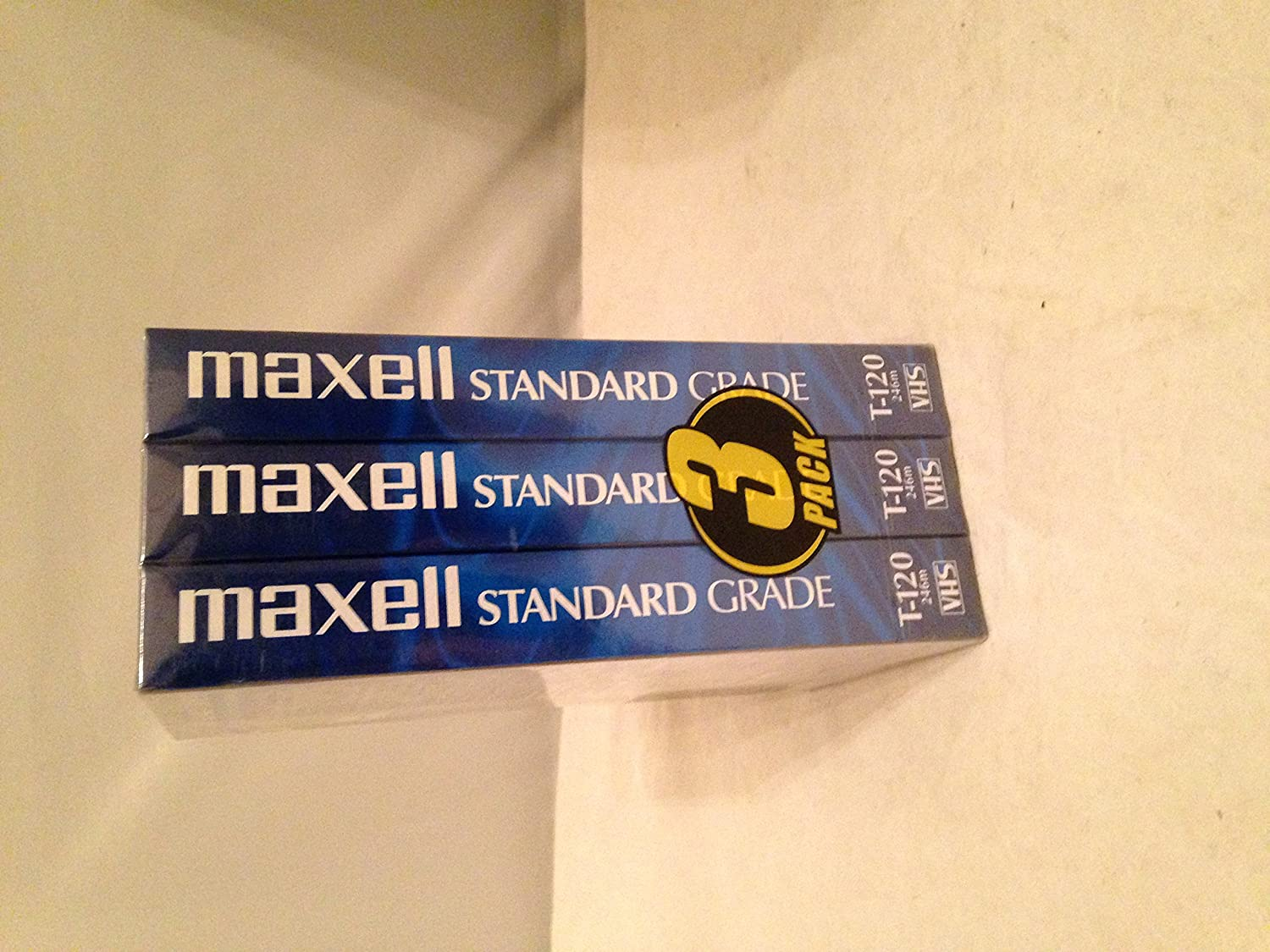 3 Pack Maxell Standard Grade VHS Tape 6 Hours