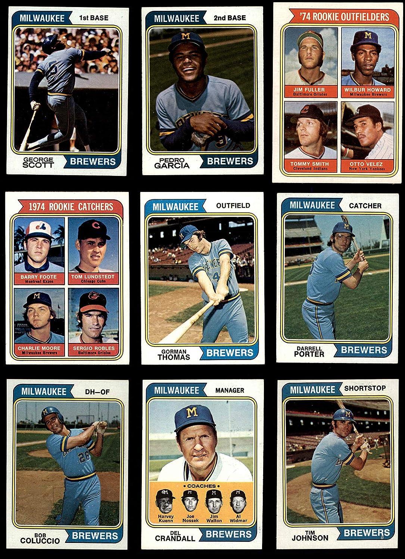 1974 Topps Milwaukee Brewers Team Set Milwaukee Brewers (Baseball Set) Dean's Cards 6 - EX/MT Brewers 91KgyOFK36L