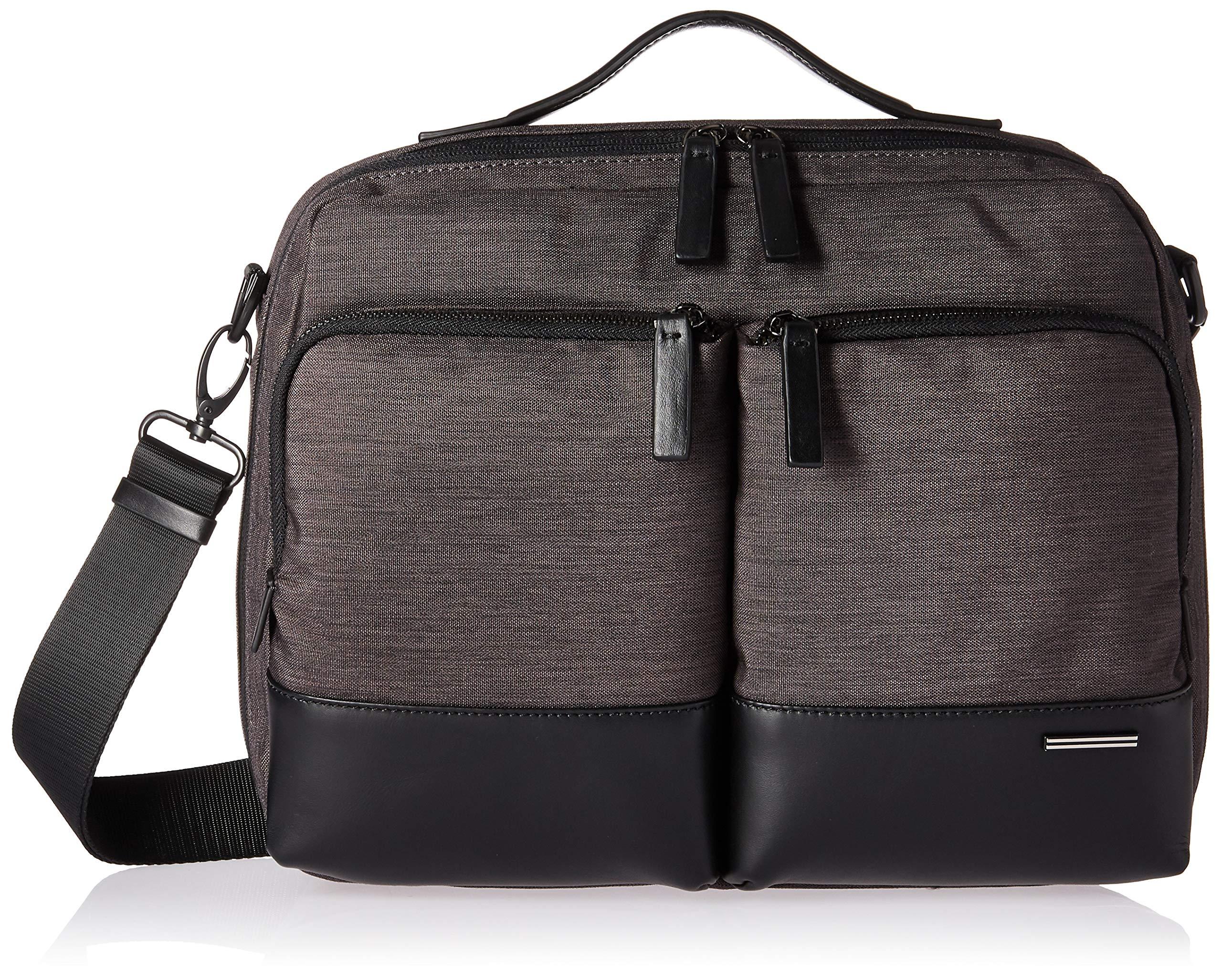 Zero Halliburton Lightweight Business-Shoulder Bag Laptop Messenger, Black, One Size