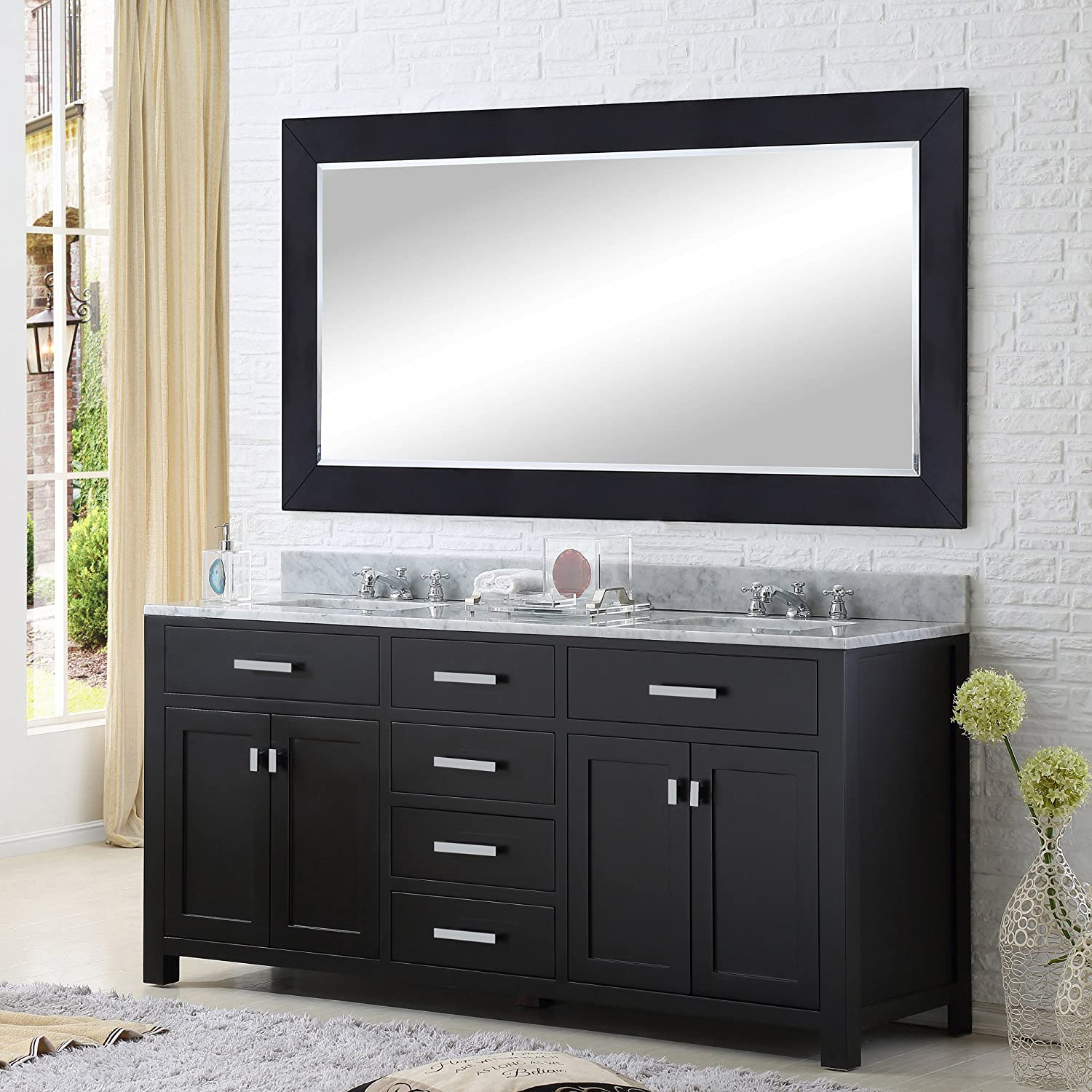 Water Creation Madison 60e 60 Inch Espresso Double Sink Bathroom