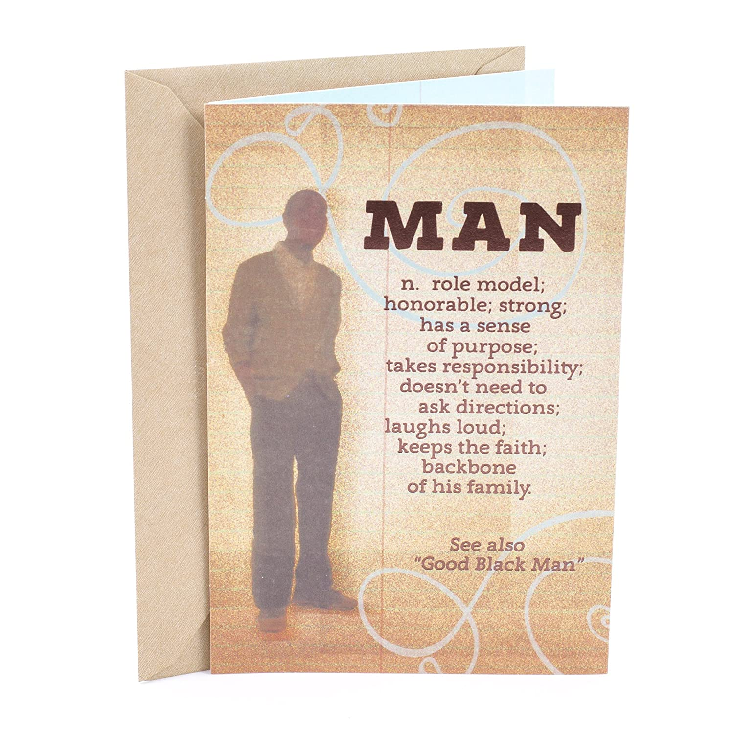 Amazon Hallmark Mahogany Birthday Greeting Card Man Definition Office Products