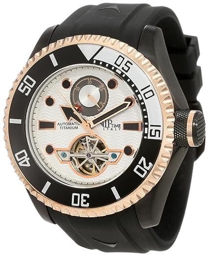 VIP TIME ITALY Reloj con Movimiento automático japonés Man VP5061BK_BK 50 mm: Amazon.es: Relojes