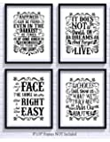 Harry Potter Quotes and Sayings Art Prints | Set of Four Photos 8x10 Unframed | Great Unique Inspirational Harry Potter Gift