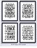 Amazon Price History for:Harry Potter Quotes and Sayings Art Prints | Set of Four Photos 8x10 Unframed | Great Unique Inspirational Harry Potter Gift