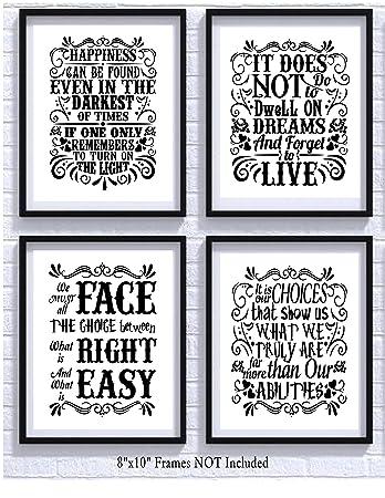 Amazon De Harry Potter Zitate Und Sprüche Art Prints Set