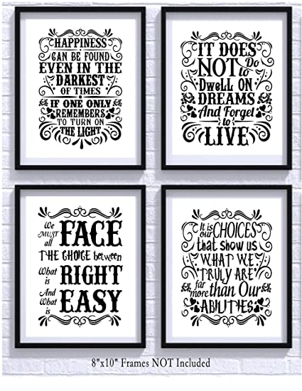 Amazon Harry Potter Quotes And Sayings Art Prints Set Of Four Mesmerizing Harry Potter Quotes