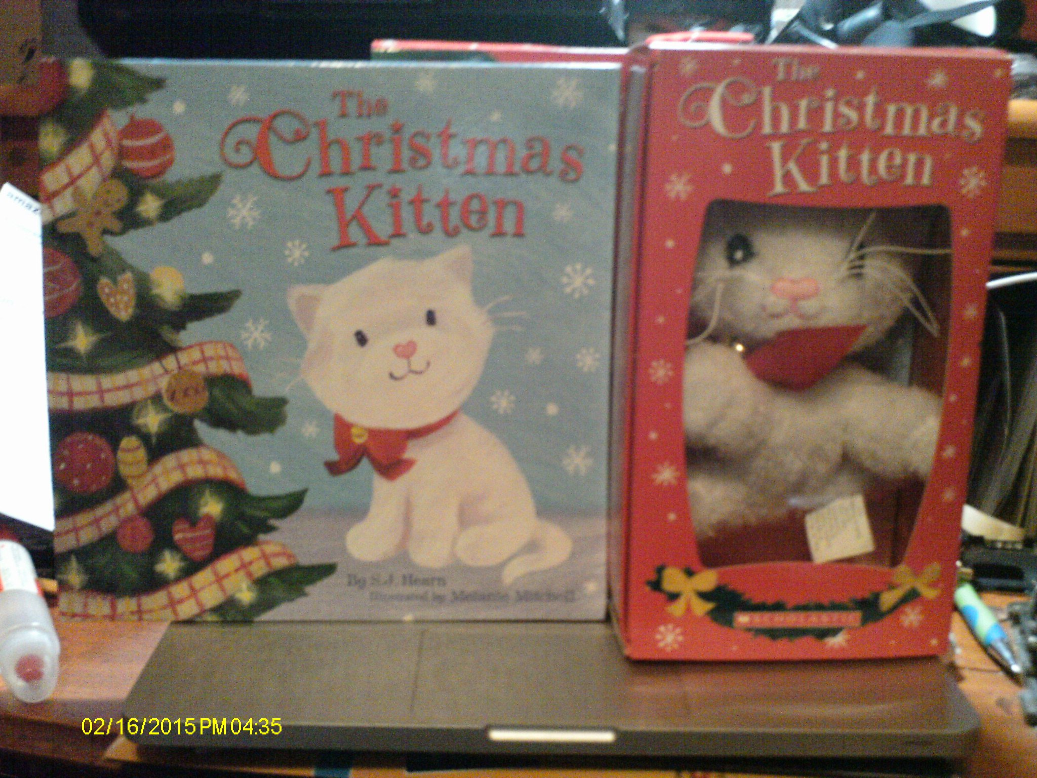 The Christmas Kitten-new Hardcover Book and Cute Plush Kitten: Hearn ...