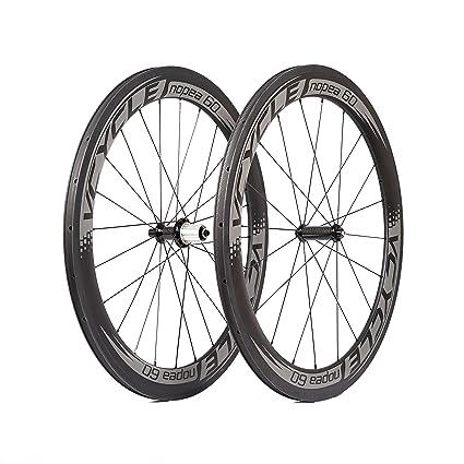 VCYCLE Nopea Carbono Cubierta Ruedas 60mm 700c Ruedas de Bicicleta de Carretera Remachador Tirón Recto Shimano