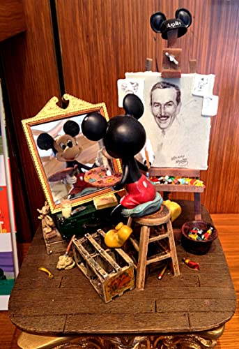 Self-Portrait Walt Disney and Mickey Mouse Figurine – Inspired By the Work of Disney Master Illustrator Charles Boyer