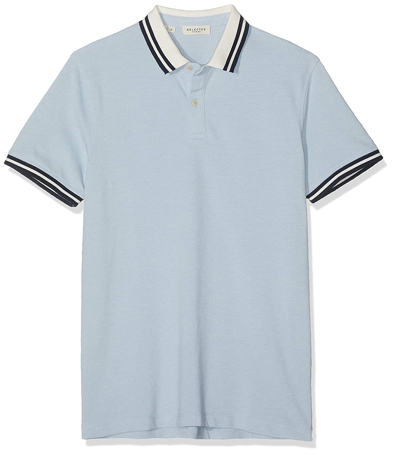 SELECTED HOMME Slhlau Mix SS Polo W Hombre: Amazon.es: Ropa y ...