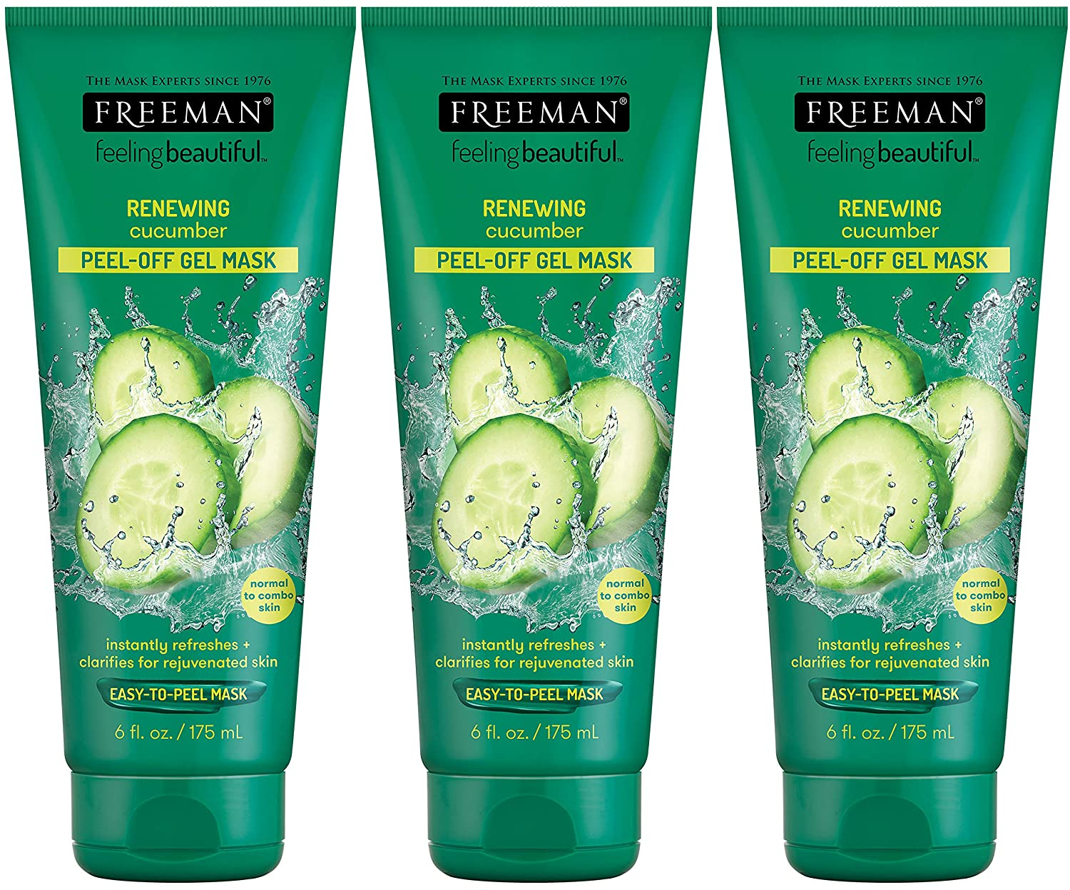 Freeman Cucumber Facial Peel-Off Mask - 6 oz (Pack of 3)