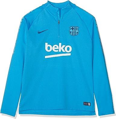 Nike FCB Y Nk Dry Sqd Dril Top Long Sleeved t-Shirt, Unisex niños ...