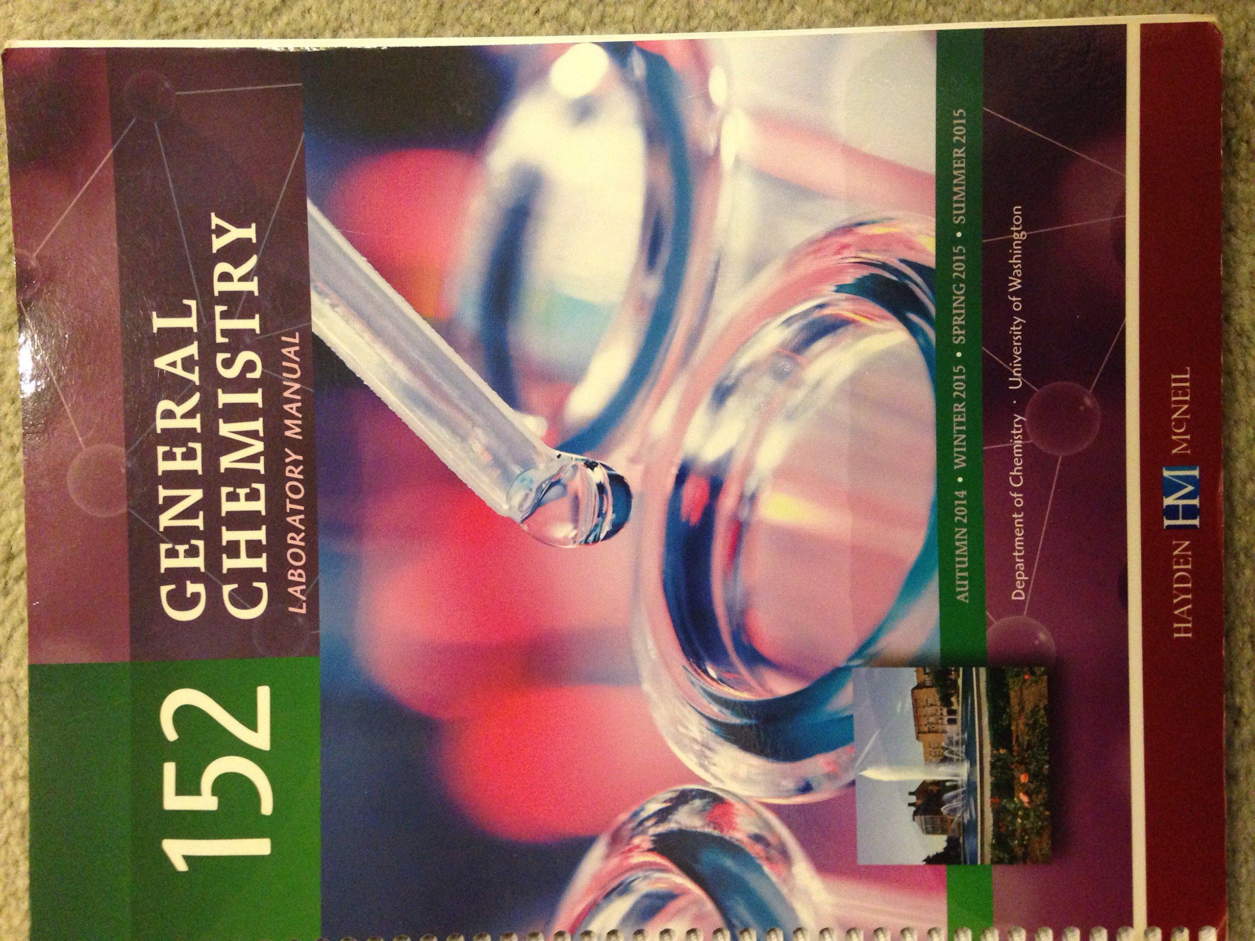 General Chemistry Laboratory Manual 142: Hayden McNeil: 9780738067940:  Amazon.com: Books