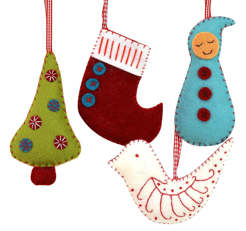 Corinne Lapierre Felt Christmas Decorations Sewing Craft Kit, 12 x 1 x 10 cm CHDEC4F