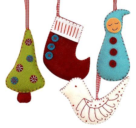 Felt Christmas Decorations Uk.Corinne Lapierre Felt Christmas Decorations Sewing Craft Kit 12 X 1 X 10 Cm
