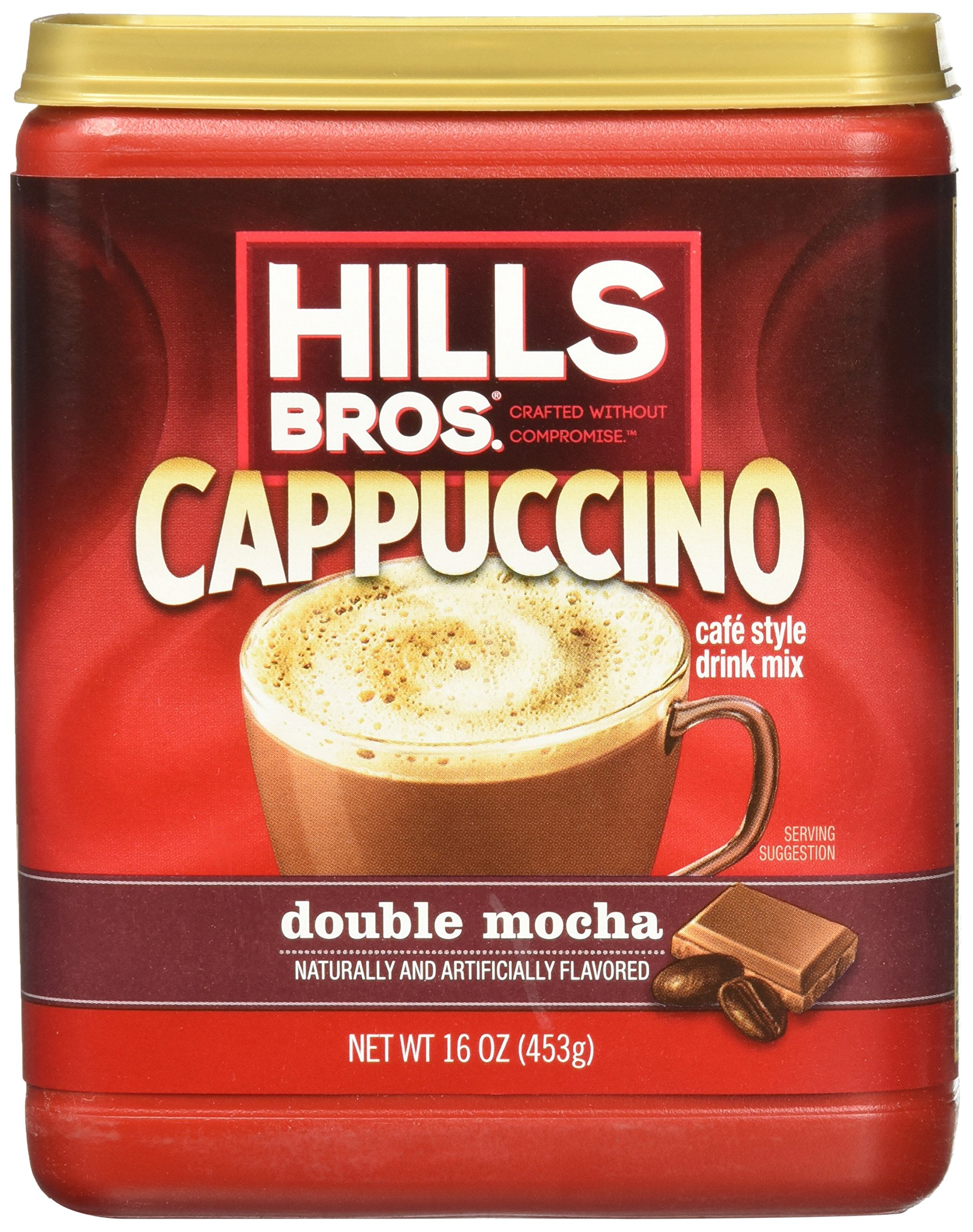 Hills Bros Cappuccino, Double Mocha, 16 Ounce (Pack of 6) by Hills Bros