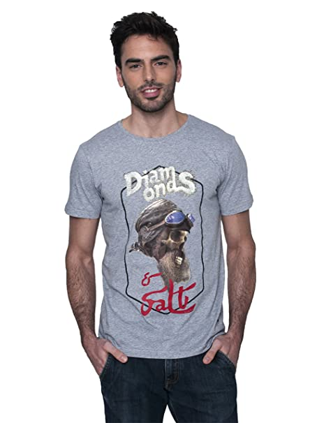 LA SAL Camiseta Calavera Hombre Blanca - T-Shirt District Diamonds H Blanco Style ztpxS6