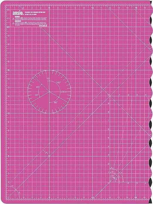 N/ähen und alle Kunst- und Bastelprojekte wendbar Quilten Zoll und Zentimeter ideal f/ür Scrapbooking A4 Professionelle selbstheilende Schneidematte